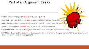 writing an argumentative paragraph ppt video online part of an argument essay