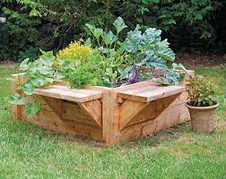 diy raised bed with benches quarto