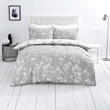 close image for sainsbury s oriental blossom grey print bedlinen from sainsbury s