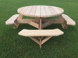 round picnic table plans pdf