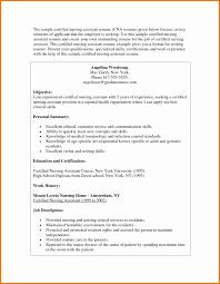 Cna Resume Sample For New Graduate Cna New Cna Resume Objective