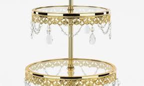 47 tier shiny gold metallic glass top dessert stand amalfi decor chandelier cupcake