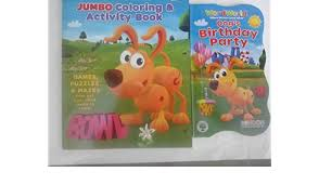 Wordworld Coloring Board Book 2 Pack Dogs Birthday Party Pbs