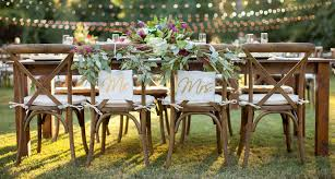 farm tables for head table