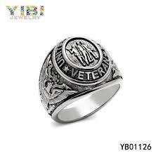 snless steel us veteran military rings