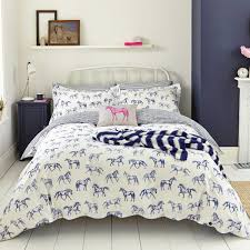 hand drawn horse double duvet cover joules