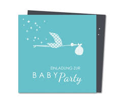 Einladung Babyparty Storch Bringt Baby Planet Cardsde