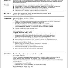Fabulous Computer Technician Resume Sample 219384 Ideas In Samples