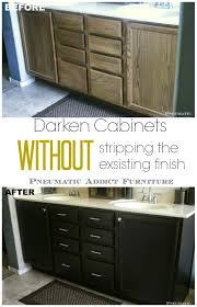 Darken Cabinets Without Stripping The Existing Finish Bloggers