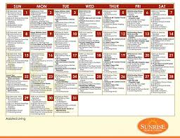 Nursing Home Activity Calendar Template Free 8 Activity Calendar ...