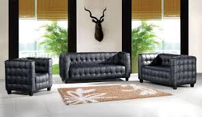 black leather tufted sofa. Black Top Grain Italian Tufted Leather Modern 4PC Sofa Set T