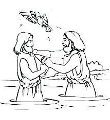 John Baptizes Jesus Coloring Page Coloring Pages Baptism Coloring