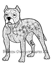 Small Picture Pit Bull Coloring Page Printable Coloring Pages by BAYMOONSTUDIO