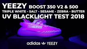 Cream White Yeezy Black Light Adidas Yeezy Boost Uv Blacklight Test 350 V2 Sesame Zebra Butter Triple White Cream 500 Salt