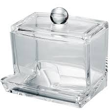 Clear Acrylic Swab Storage Case, Organizer For Cotton Swabs, Q-Tips, Make Up  Pads, Cosmetics & More - For Bathroom & Vanity By AcryliCase - Walmart.com