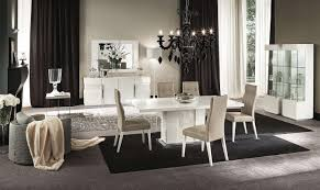 white and black dining room sets. Canova Dining Room Set By ALF White And Black Sets