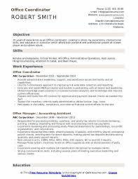 Office Position Resume Office Coordinator Resume Samples Qwikresume