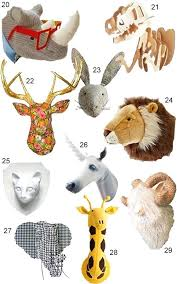 animal heads wall decor uk get the look faux best modern taxidermy images on animal head wall decor