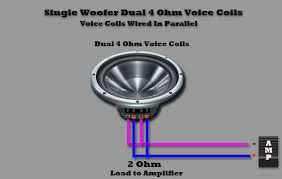 dual voice coil single woofer dual 4 ohm voice coils voice