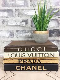 Designer Books Decor Cool 32 BOOKS GoldBlackTanBrown DESIGNER BOOKS Chanel Louis