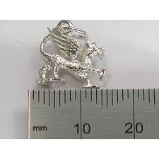 dragon sterling silver charm 925 x 1 wales and welsh dragons charms bj1914