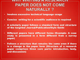 Writing a Research Paper   ppt download