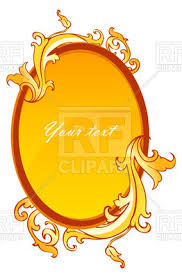 oval mirror frame. Oval Mirror Frame Decorated With Vintage Ornament Vector Image D