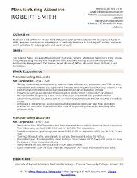 manufacturing resume sample manufacturing associate resume samples qwikresume