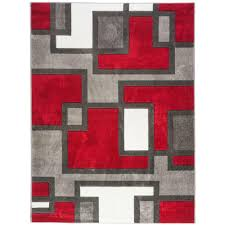 well woven ruby imagination squares red 9 ft x 13 ft modern area rug 600908 the home depot