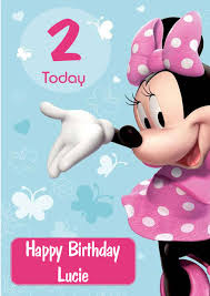 Birthday Cards Design For Kids Personalised Minnie Mouse Birthday Card Design 2
