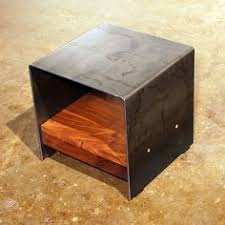 steel furniture designs. cubic table walnut u0026 steel sarabi studio maybe with wood all over the top as well instead of metal furniture designs