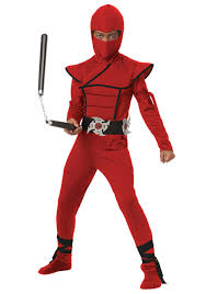 Ninja Suit Size Chart Boys Red Stealth Ninja Costume