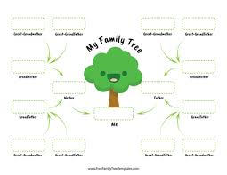 Family Tree Charts To Download Free Family Tree Templates For A Projects
