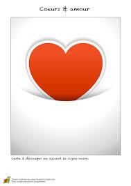 Coloriage Carte Saint Valentin C Ur Rouge