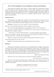 Pdf How To Write Explanatory Notes Headnotes Footnotes And Endnotes