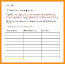 Best Blank Petition Template With Signature Sheet Printable