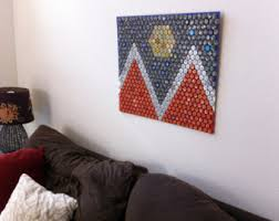 bottle cap furniture. city of denver beer bottle cap flag furniture