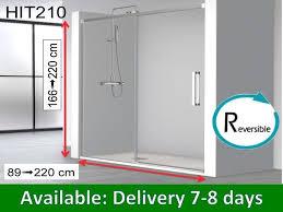 sliding shower door 150 x 195 cm