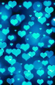 Blue heart bokeh wallpaper I created ...