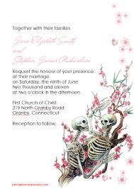 Halloween Wedding Invitations Halloween Wedding Invitation Till Death Do Us Part Wedding