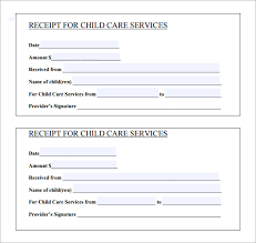 Child Care Receipt 10 Printable Receipt Templates Free Samples Examples Format