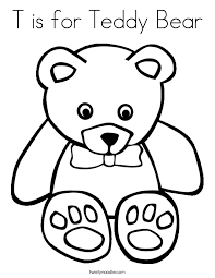 Small Picture T is for Teddy Bear Coloring Page Twisty Noodle