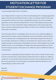 motivation letter to exchange program images sle  motivation letter to exchange program