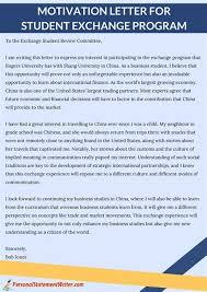 motivation letter to exchange program images sle  motivation letter to exchange program