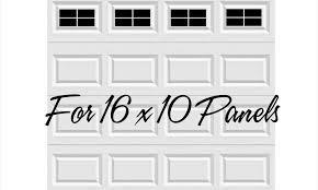 garage door windows kitsCraftsman Style Vinyl Garage Door Decal Kit 16 x 10 Faux Windows