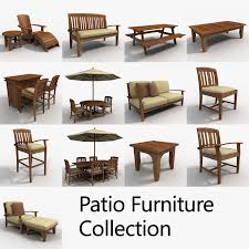 Patio Furniture 3D Models for Download