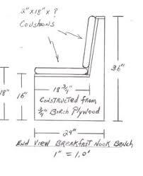breakfast bench size - Google Search
