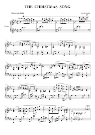 The Christmas Song Sheet Music For Piano Download Free In