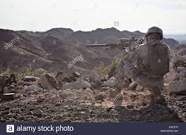 Marine Corps Scout Sniper A Us Marine Corps Scout Sniper During A Fire And Maneuver Drill With