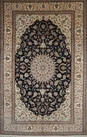 beautiful nain rug with silk detail